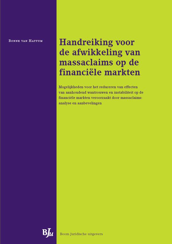 Handreiking voor de afwikkeling van massaclaims op de financiële markten