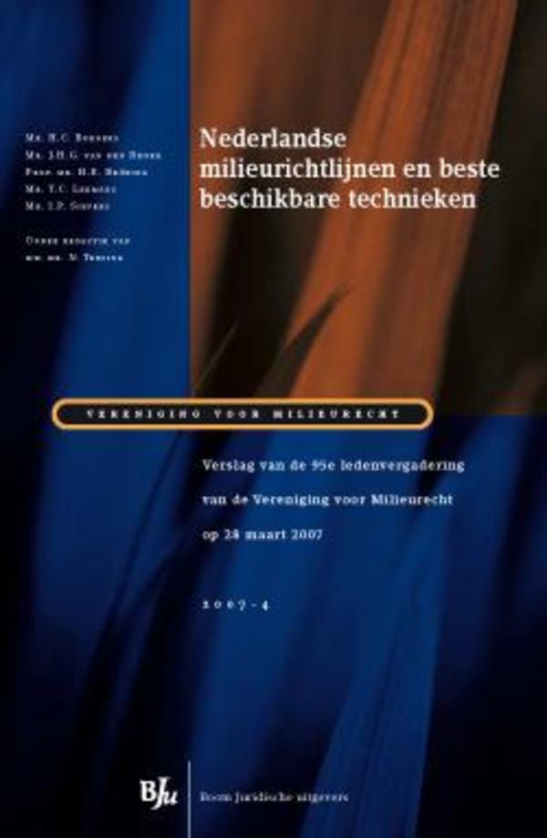 Nederlandse milieurichtlijnen en beste beschikbare technieken