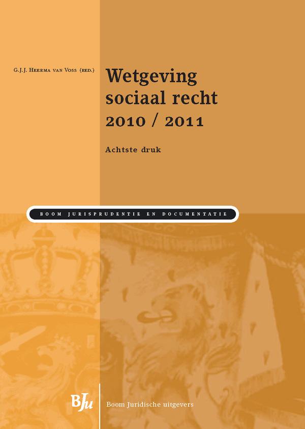 Wetgeving sociaal recht 2010/2011