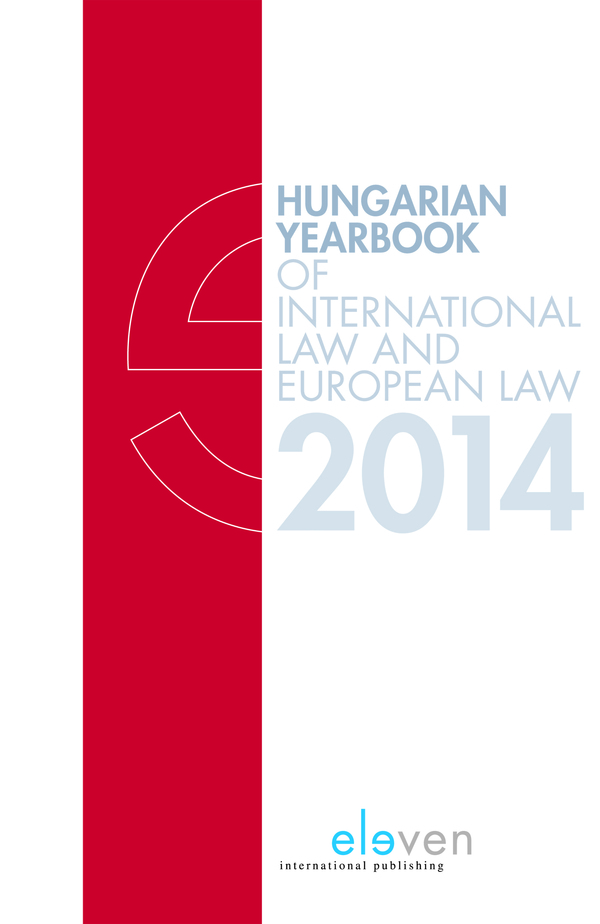 Hungarian Yearbook of International Law and European Law 2014