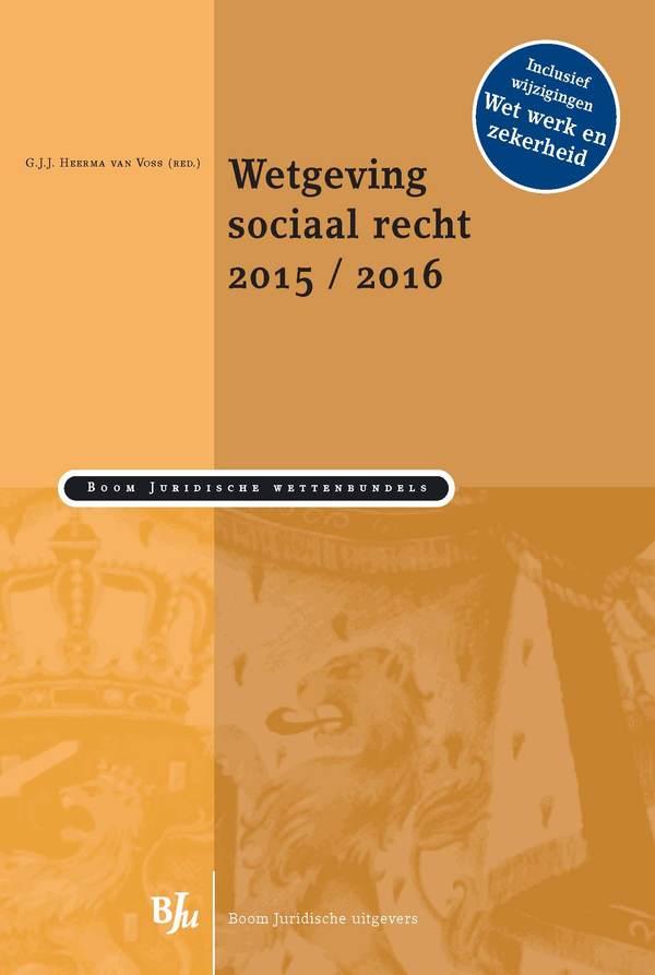 Wetgeving sociaal recht 2015/2016