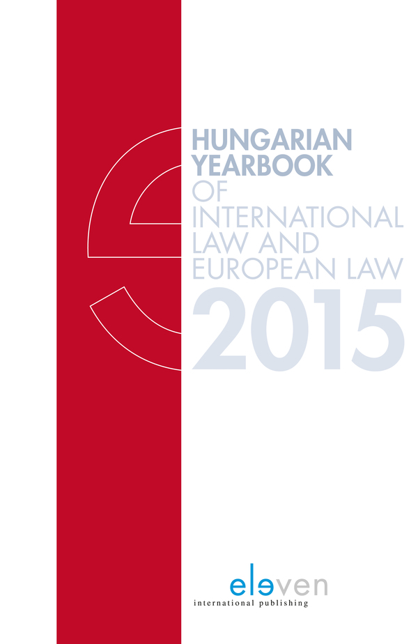 Hungarian Yearbook of International Law and European Law 2015