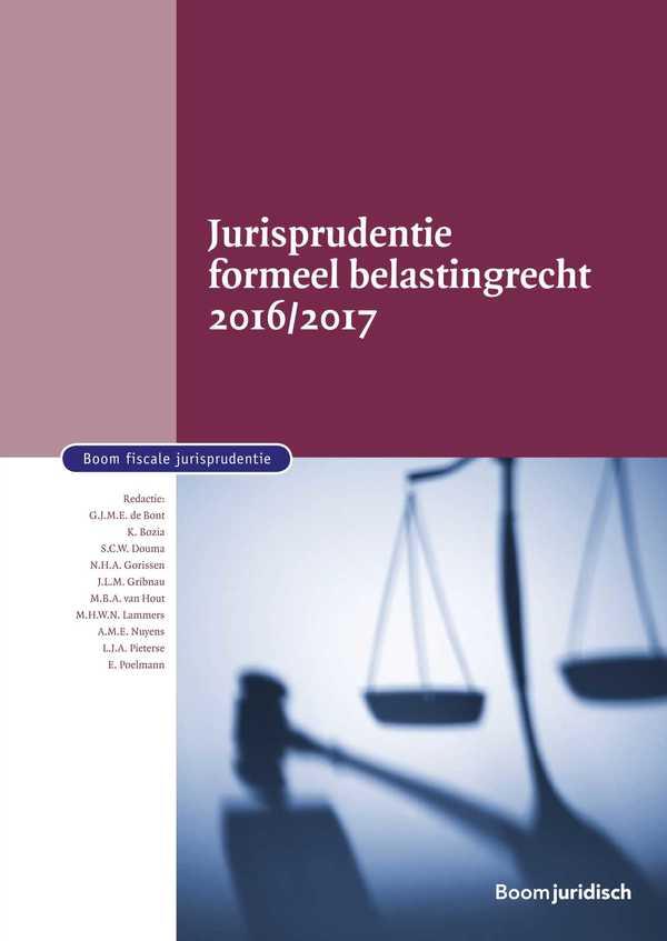 Jurisprudentie formeel belastingrecht 2016/2017