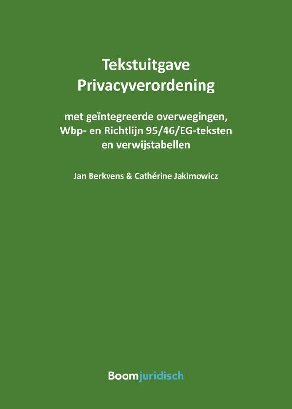 Tekstuitgave Privacyverordening