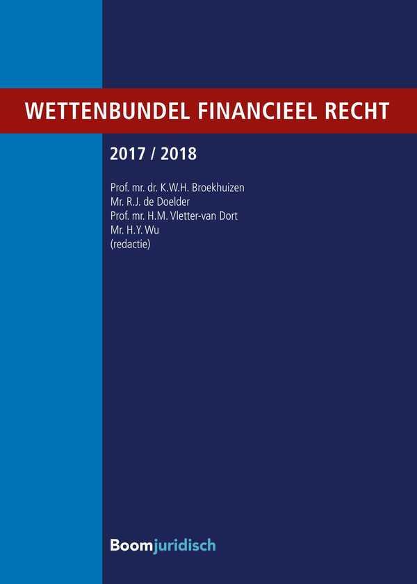 Wettenbundel financieel recht 2017/2018