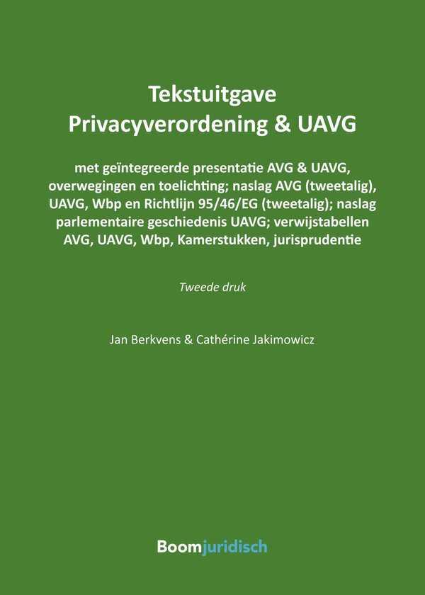 Tekstuitgave Privacyverordening & UAVG