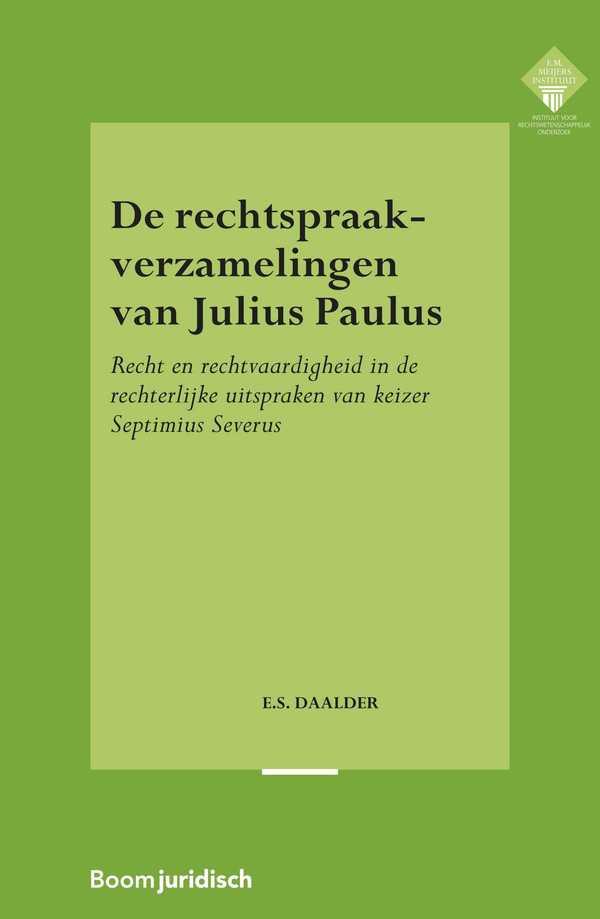 De rechtspraakverzamelingen van Julius Paulus