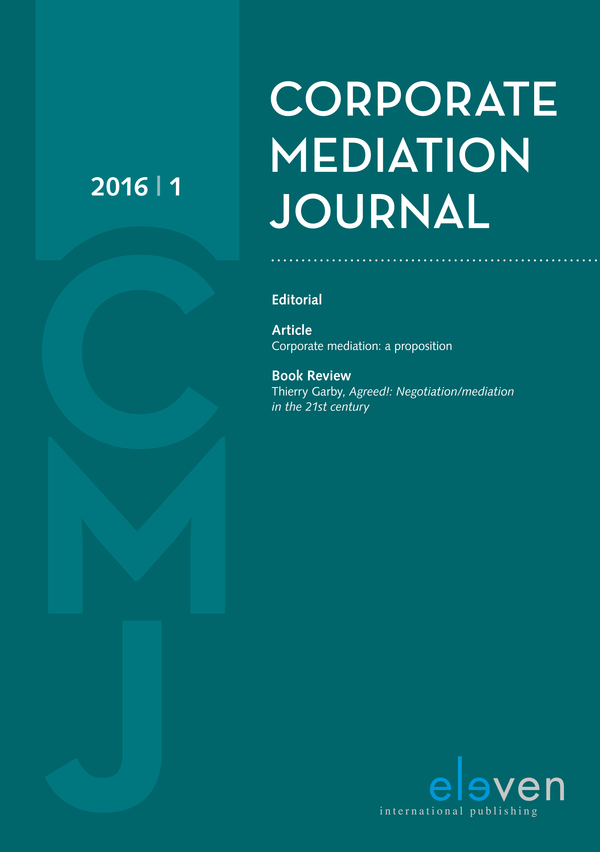 Corporate Mediation Journal (CMJ)