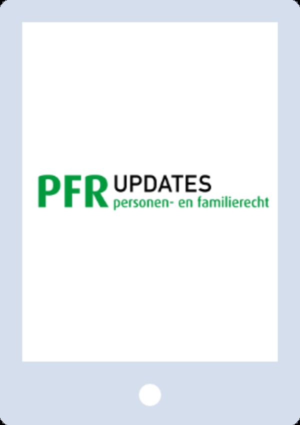 PFR Updates - Personen- en familierecht